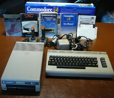 Working Commodore 64 Computer Bundle including 1541 Disk Drive & Manuals