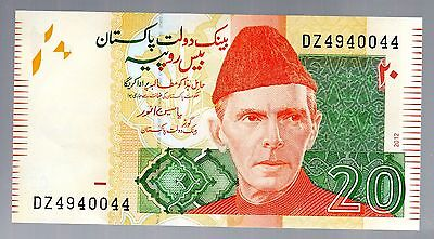Banknote World Pakistan In Middle East, 1 Pce Of 20 Rupee 2012, P-55, Unc Cond