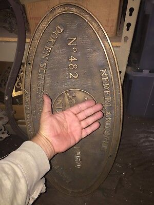 Bronze Plaque Ship Nautical Netherlands Amsterdam Maritime