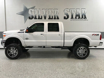 2013 Ford F-250  2013 F250 Lariat 4WD FX4 Powerstroke SuperLift 37s 22s GPS Leather CrewCab TX!