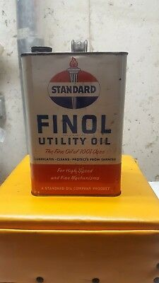 Vintage 1 Gallon Standard Oil Can