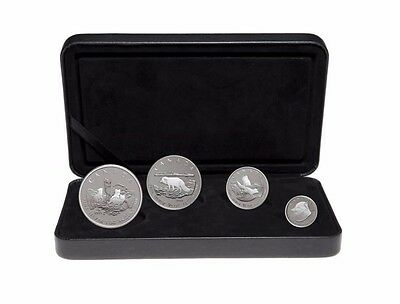2004 Canada 4 coin Silver Arctic Fox Proof Set w/Box