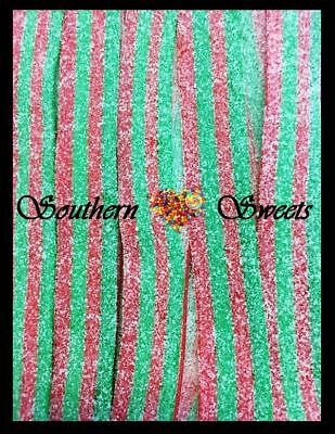 Fini Melon Watermelon Belts 600G Red & Green Lollies Xmas Lollies Free Postage