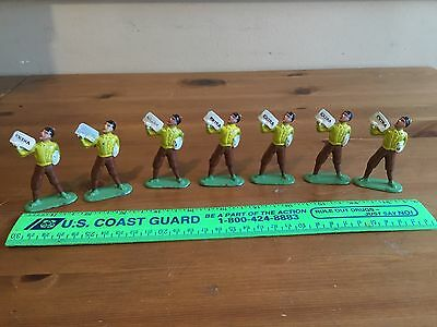 (7) Vintage Barclays Lead Figure # 621 Newspaper Boy ( Old Store Stock)