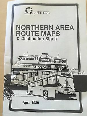 Sydney Buses 1989 Northern Area Route Maps