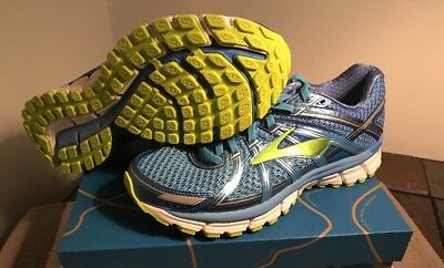 bf8c9284929 Brooks Adrenaline GTS 17 Women s Running Shoes Azure Blue Palace Blue Lime  Punch