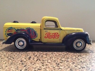 Golden Wheels Yellow Pepsi-Cola 1940 Ford Truck Bank