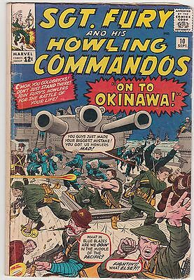 Sgt. Fury And His Howling Commandos #10 1964 1St App. Capt. Savage 'the Skipper'