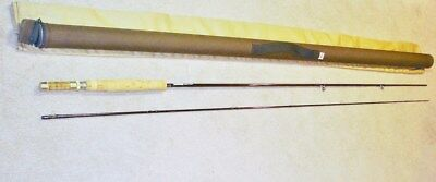 Sage Graphite Fly Rod Model R586 Gfl In Bag & Tube With Wood Reel Seat