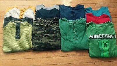 Lot Of Boys Long Sleeved Shirts Size 10/12 Gap, Old Navy