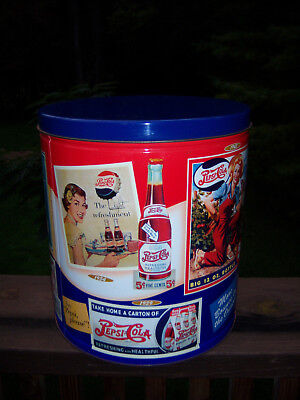 Neat  Pepsi Classic Collector Tin Vtg Style Great Graphics Limited Edition