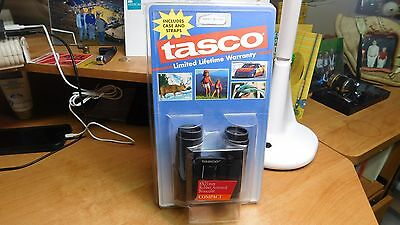 NEW IN BOX Tasco 8 X 21mm Compact Rubber Armored Binocular Case Straps Black