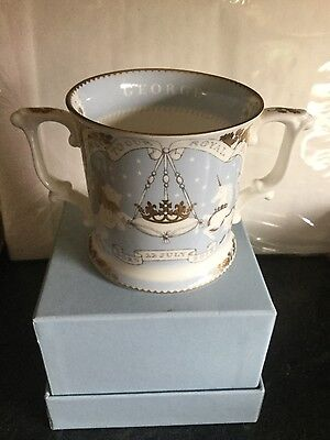 BOXED ROYAL COLLECTION TRUST HRH Prince George 22K Gilt Loving Cup FREE UK P&P