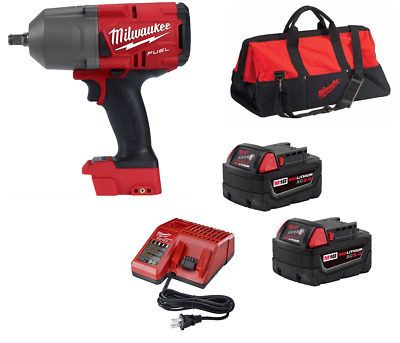 "Milwaukee 2767-20 M18 FUEL ½"" Impact WrenchGEN II 1400lbs + BAG + BATTS  CHARGER"