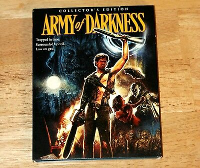 Army of Darkness (Blu ray, 2015, 3-Disc Set) Scream Factory, Ash Evil Dead