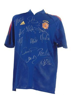 Spain Signed World Cup Champions Football Shirt 2010 *rare* + *coa*