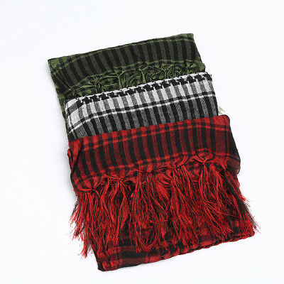 Men's Cover Head Wrap Shemagh Palestine Arab Scarf Mask Shawl Scarves