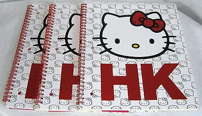 Hello Kitty Spiral Notebooks Set of 3 SCHOOL WORK NICE GIFT FREE USA SHIPPING