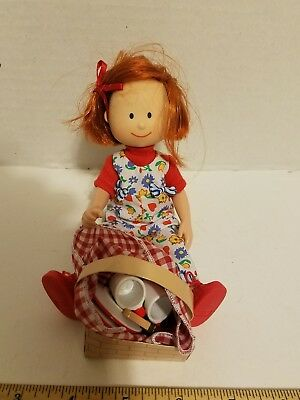 Madeline doll with picnic basket