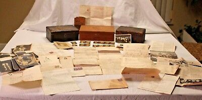 Lot Old Letters, Photos, Medical Photos, Car Invoice, boxes from Dr. Carl T Eber