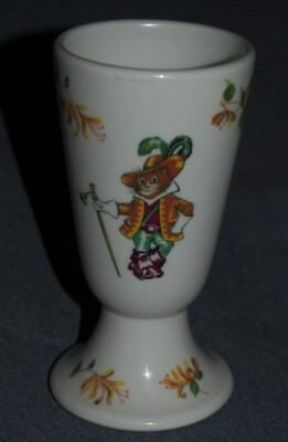 Vintage Hotel Beau-Rivage Geneve Puss In Boots Restaurant Ware Tumbler / Vase