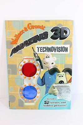 Retired Wallace & Gromit 3d Supervision Coloring/Activity Story book-GREAT FUN!!
