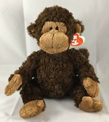"Ty Classic Bungle Monkey Brown Ape Chimp Soft Plush Wild Zoo Animal 14"" 2009 Tag"