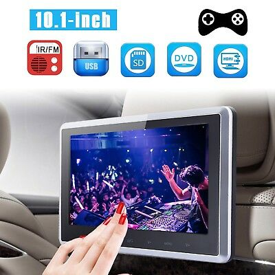 "HD 10"" LCD Digital Screen Car Headrest Monitor USB MP5 DVD Player IR/FM Game SD"