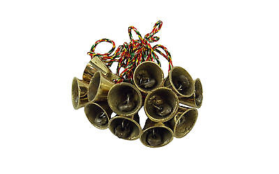 Wind Chime/Hanging 12 Mini Bells, Feng Shui, Hippy Positive Energy & Prosperity