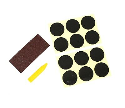 14pc Glueless Patch Repair Kit Tube Bike Tyre Waterbed Air Mattress Inflated Toy