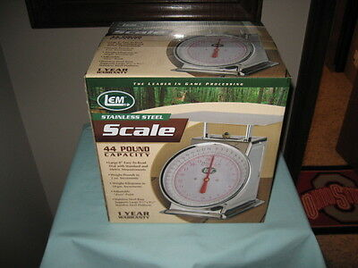 Lem Products 44Lb. Stainless Steel Scale-Brand New