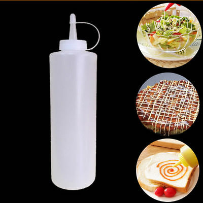 8oz Plastic Sauces Squeeze Bottle For Oil Ketchup Mustard Dispensers Cook Toll