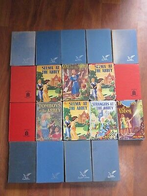 19x Elsie Oxenham Abbey Girls, hc, some dust jackets 1940s - 60s some RARE