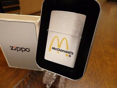 Etch And Paint Mcdonald's Restaurant With Imprinted Tin Zippo Lighter Mint 2000