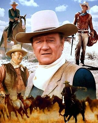 John Wayne's Amazing Life In Western Movies Glossy 8x10 Photo