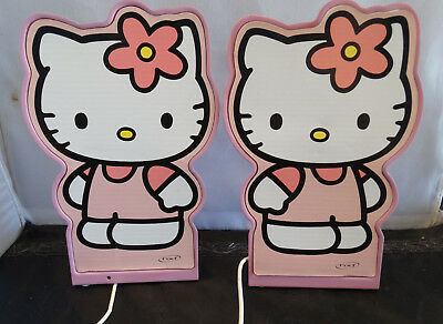 Vintage Hello Kitty Computer Speakers Pink White By NXT Cute Girls Room Decor