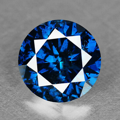Diamond Fancy Vivid Blue Round 0.62 cts Loose Diamond Fancy Natural F720