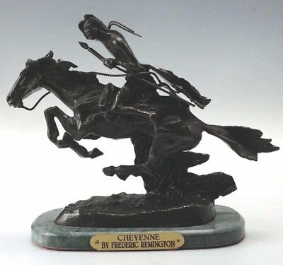 """Bronze Casting Using The Lost Wax Process, """"The Cheyenne"""" by Frederic Remington."""