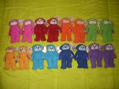 Beanie kids- The Rainbow Bears Full Set of Common & Gold Nose (Rare)