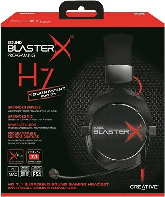 CREATIVE SOUND BLASTERX H7 Tournament Edition Pro Gaming PC MAC PS4 XBOX ONE F46