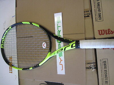 Gently Used BabolaT Pure Aero 300G 4 3/8 With Alu Power Rough String (52 LB)