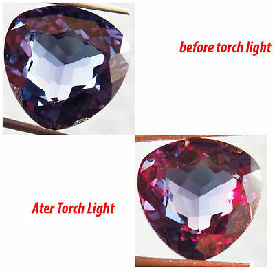 15.50Ct  Color Change Czochralski Alexandrite Amazing Trillion