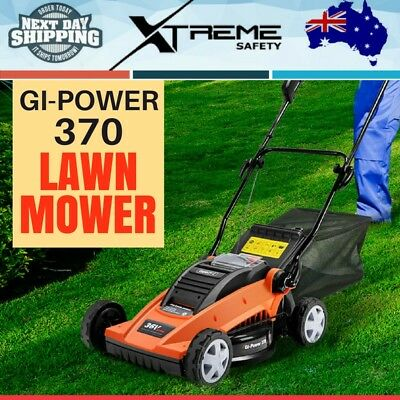 900W 36V Giantz Gi-Power 370 Lawn Mower Battery Powered Cutter Gardening Grass