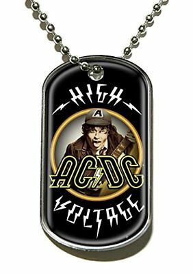 AC/DC high voltage Dog tag Necklace