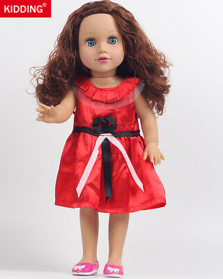 "Handmade 18"" Reborn Doll American Girl Baby Red Short Dress Skirt Without Baby"