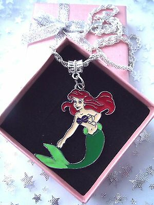 Little Mermaid  Princess   Ariel  Necklace Strong Age 3,4,5,6,7Gift Box,birthday