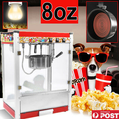Large Commercial / Store Electric 8oz Popcorn Maker Machine Corn Kernels Party