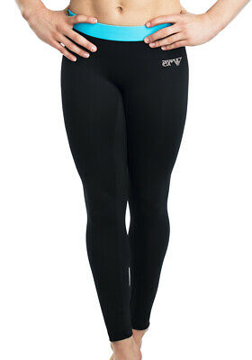 "ERVY lange Leggings ""Mikrofaser N-Air"" F: schwarz/caribic *TOP PRODUCT*"