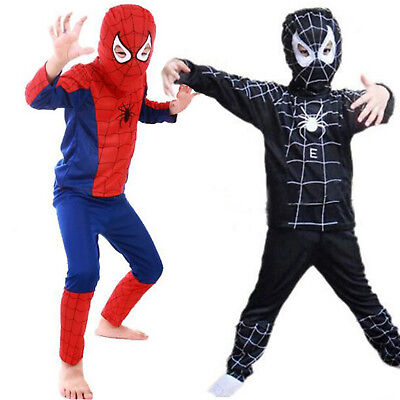 Cosplay Costume Spiderman Masquerade Fancy Ball Party Kids Toddler Dress Outfits