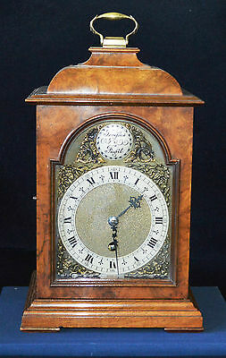 Antique Figured Walnut Bracket Clock by Astral of Coventry Working